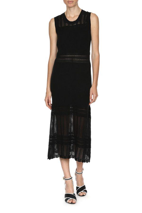 Boutique Moschino Strickkleid schwarz vorne