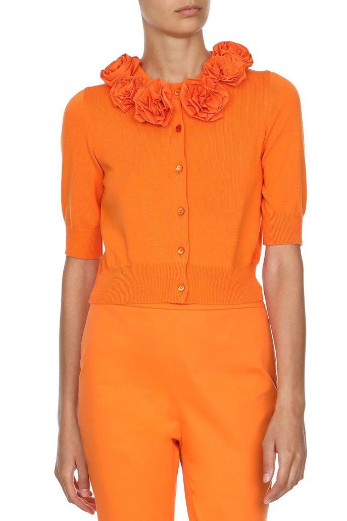 Boutique Moschino Weste klein orange