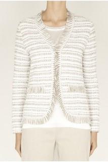 D.Exterior Tweed-Jacke mit Lurex beige