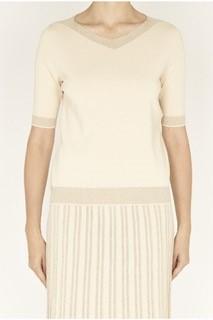 D.Exterior Pullover beige mit Lurex