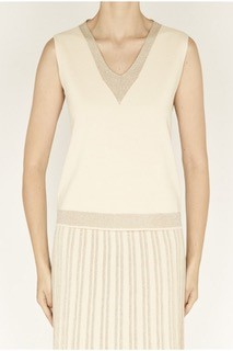 D.Exterior Lurex Top in beige