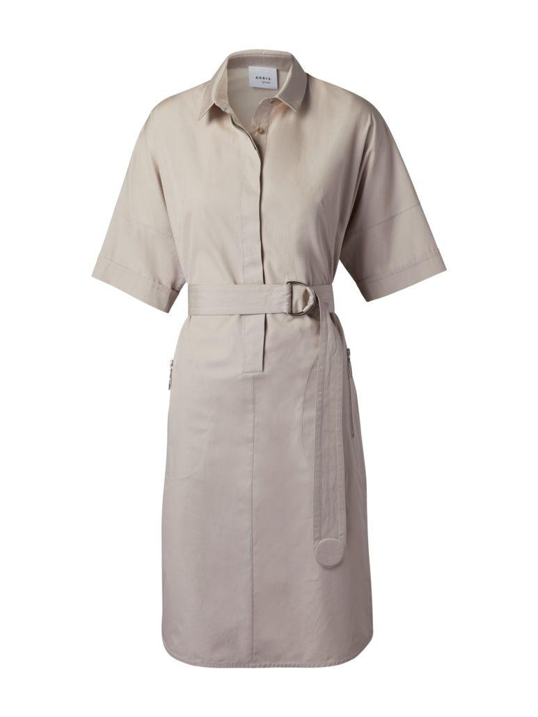 Akris Punto Baumwollkleid beige