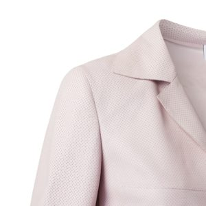 Akris Punto Lederjacke rosa Detail