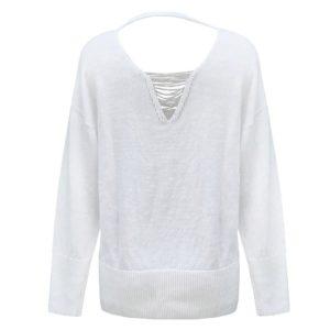 Peserico Pullover weiß hinten