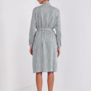 Peserico Kleid gestreift hinten