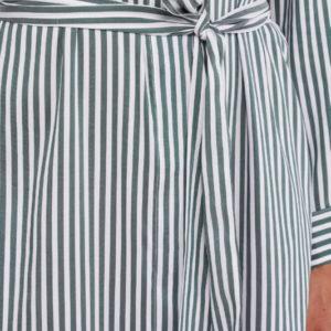 Peserico Kleid gestreift Detail