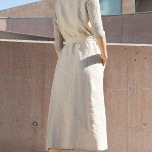 TONET Kleid Leinen hinten