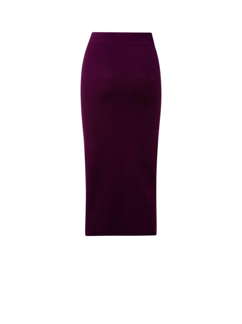 Midi Bleistiftrock aus Kaschmir Wolle Mix. Passt perfekt zum Pullover aus gleichem Material und gleicher Farbe.